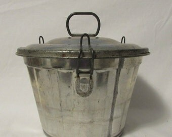 Tin Jello Mold, Bread Pudding Mold, Cake Mold, Shabby, Farmhouse, Cottage, Kitchen Decor, 1950's