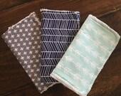 Gender neutral burp cloths • modern baby...