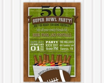 Super Bowl Party Invitation, Super Bowl Invitation, Football Party, Super Bowl Party, Superbowl Invitation, Superbowl Party Invitation