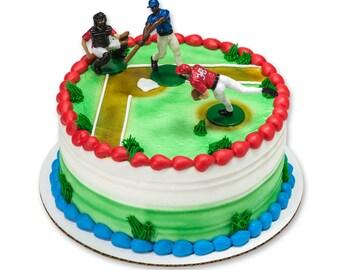 Baseball Cake Topper/ Baseball Team Cake Topper/ Mini Baseball Team/ Baseball Cake Idea/ Baseball Party Cake