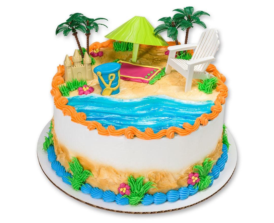 Hawaiian Themed Cake Decorations