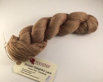 Rooster Delightful Lace 80/20% baby alpaca/silk 100g hank colour 612 Chimbote