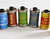 Vintage Reloadable Film Cassettes / Canisters / Containers x7 Kodak