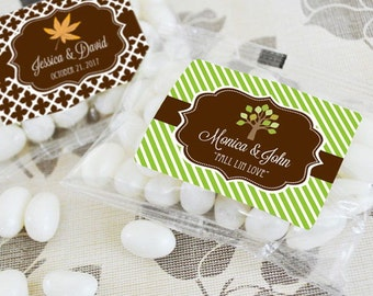 Personalized Fall Jelly Bean Packs, (Set of 24)