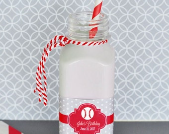 Personalized Kids Birthday French Square Plastic Bottles (Set of 24)