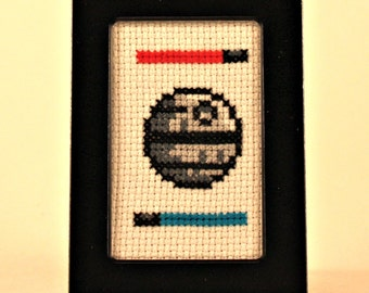 Death Star Cross Stitch