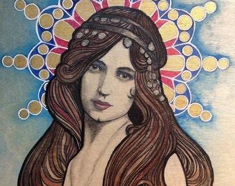 Art Nouveau Woman & Mandala