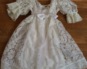 White lace baby doll dress