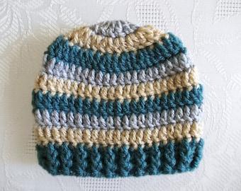 Crochet newborn hat Baby boy hat Newborn boy hat Winter baby hat Winter baby outfit Newborn baby hat Crochet boys hat Striped boys hat