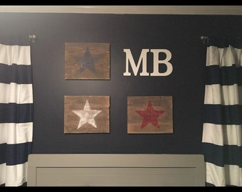 Distressed Red, White, and Blue Star (3) Signs!