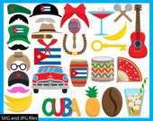 Cuba Props - Cutting Files SVG JPG Digital Graphic Design Instant Download Commercial Use Photo Booth Party Funny Fun Hat (00114c)