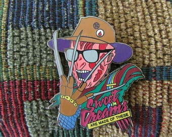 1980's Horror Movie Freddy 80's Gore Art Lapel Hat Pin