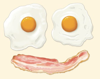 Eggs and Bacon A4 Print