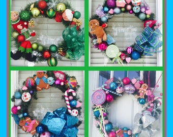 Package of 4 custom wreaths!!! You choose the holidays!!! All seasons and holidays