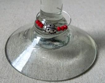 Ladybug, Red Wine Charm