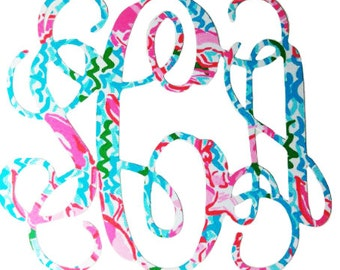 Lilly Pulitzer Monogram Sticker