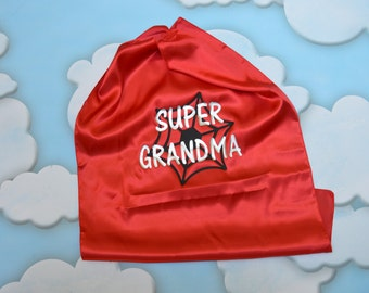 Super Grandma or Super Grandpa Cape.