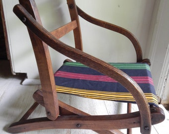 Wonderful Antique Child's Folding Chair!
