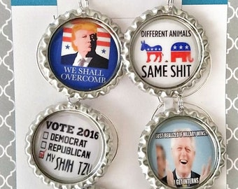 Funny Political Wine Charms