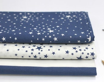 Stars or Stripe Pattern Cotton Fabric by Yard - 3 Patterns Selection