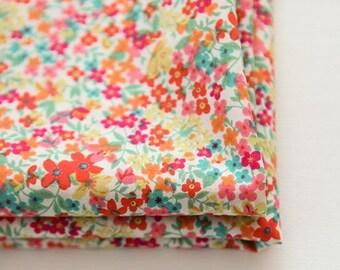 "Lawn Fabric - Floral Pattern Lawn Fabric ""Wild Bouquet"" by Half Yard - 55"" Width"