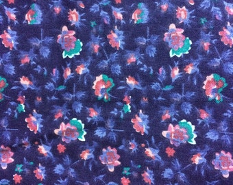 Fabric by the 1/4 Yard - Purple Flowers Cotton