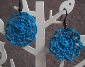 Crocheted Doily Earring