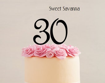 "Number Cake Toppers - 4"" High . Any number available MADE IN AUSTRALIA"