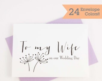 Card for Wife, To My Future Wife Card, Wife on Wedding Day Card, Wedding Day Cards (WC014-HW)