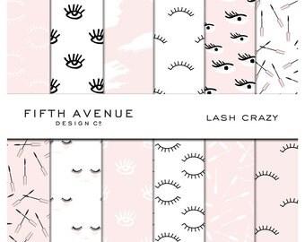 Lash Crazy - Digital Paper