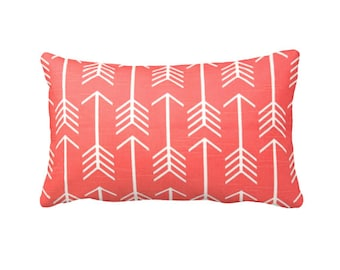 6 Sizes Available: Coral Decorative Throw Pillow Cover Coral Pillow Accent Pillow 12x16 18x18 20x20 22x22 24x24 Inches