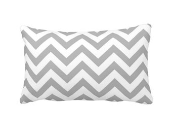 7 Sizes Available: Lumbar Pillow Cover Decorative Throw Pillow Grey Chevron Pillow Cover Grey Pillow Gray Pillow Geometric Pillow Cover