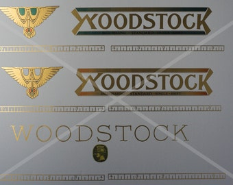 Woodstock 5 typewriter decals, paper table and back