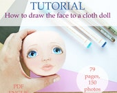 Tutorial, how to draw face, cloth doll, pdf, step by step guide, drawing a face, rag doll, paint a face, Face Painting, for beginner, faces