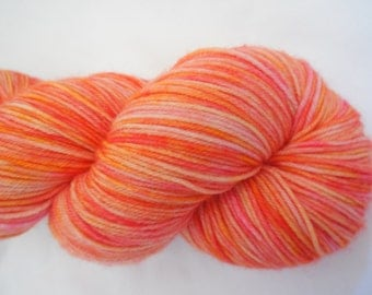 Fruity Hand Dyed Superwash Merino Sock Yarn