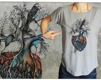 heart - T-shirt women S-XL -01