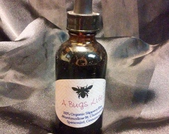 A Bugs Life 2 oz Organic, Herbal Tincture.