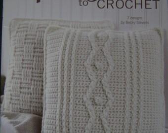Aran Pillows to Crochet Instruction Book