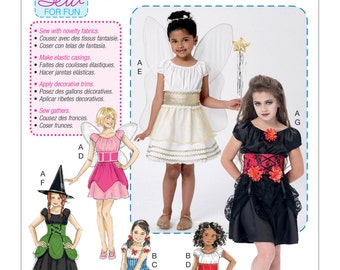 McCall's Pattern M7453 Children's/Girls' Fairy, Witch, Pirate, Angel and Character Costumes