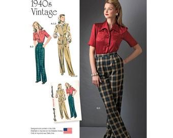 Simplicity Pattern  8243 Misses' Blouse, Vest and Pants