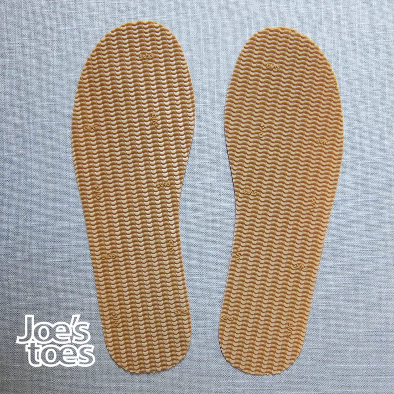 U. S. Sizes Rubber soles Sandal soles Shoe soles and
