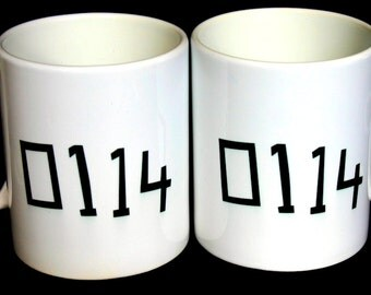 Sheffield Mug: 0114 Sheffield Area Code Mug. Sheffield telephone code mug