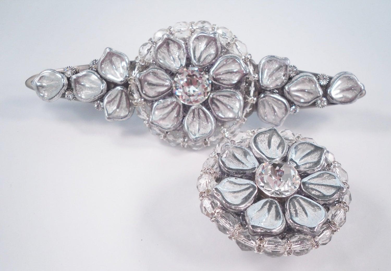 Art Deco Drawer Pull Swarovski Crystal/Unique Cabinet Pull/Girls ...