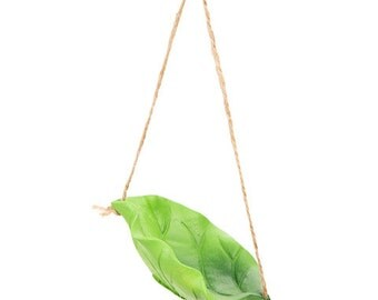 Fairy Garden Leaf Swing with Rope Set of 1 Miniature Garden Fairy Supply - 541