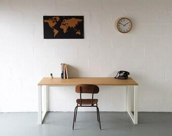 Desk, In Oak, Home Office Desk, Writing Desk, Industrial desk, Computer Desk, workstation, Handmade.