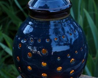 Lantern in Dark Blue Glaze