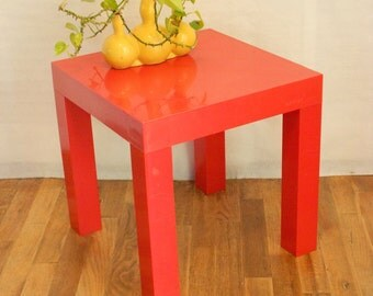 Mid Century Side Table by Parsons in Retro Orange