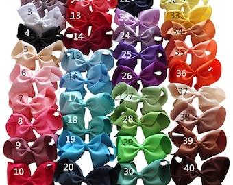 20-40 pcs Bows WITHOUT Clips  6 Inch bows  Hair Bows Headbands DIY Kits  Grosgrain bows  Bow Supplier