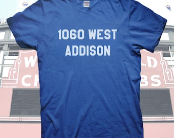 Chicago Cubs 1060 West Addison T shirt Wrigley Field Baseball