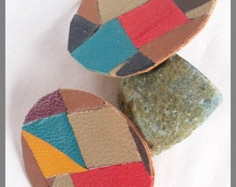 Upcycled, leather and cork, Drinks coasters, Leather off cuts, Repurposed mats
